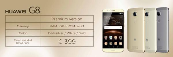 Huawei G8 price